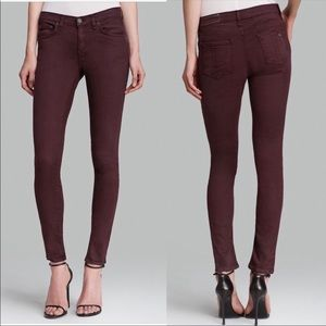 Rag & Bone Skinny Jeans Wine Burgundy Sz 25 19